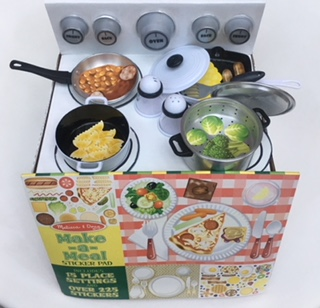 The perfect pair - My Cardboard Box Oven Kit + Melissa and Doug Make-a-Meal Sticker Pad.